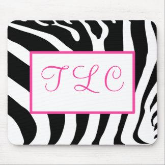 Zebra Monogram Mousepad