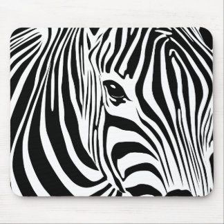 Zebra Mousepad (Black)