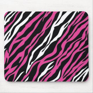 Zebra Mousepad - Pink & White