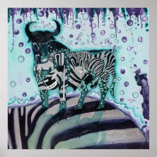 Zebra move poster