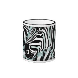 Zebra Ringer Coffee Mug