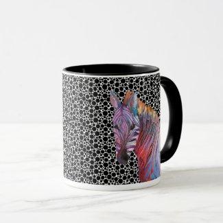 Zebra Mug, original artwork Mug