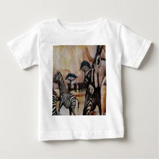 Zebra Mural Baby T-Shirt