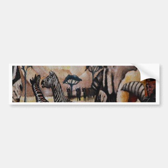 Zebra Mural Bumper Sticker