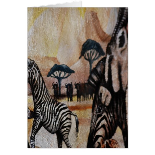 Zebra Mural Card
