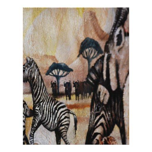 Zebra Mural Flyer Design