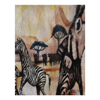 Zebra Mural Letterhead