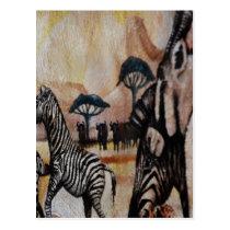 Zebra Mural Postcard