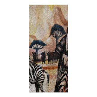 Zebra Mural Rack Card