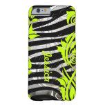 Zebra & Neon Flourishes iPhone 6 case