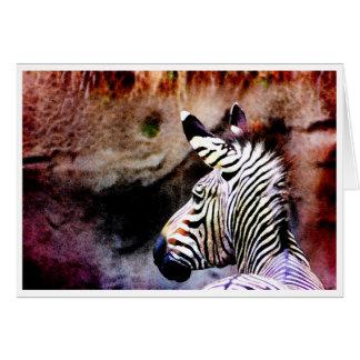 Zebra No. 1 Card