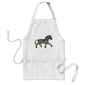 Zebra of a different color adult apron