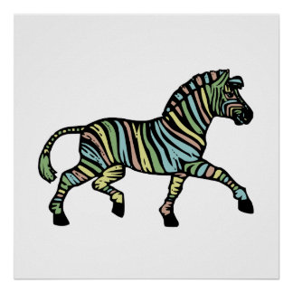 Zebra of a different color poster