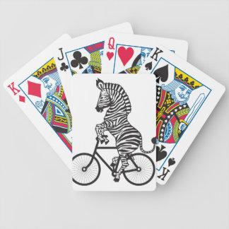 Zebra on Bike Bicycle Playing Cards