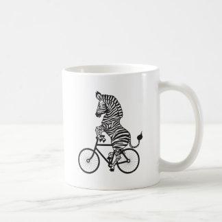 Zebra on Bike Coffee Mug