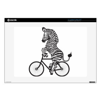 Zebra on Bike Skins For Laptops