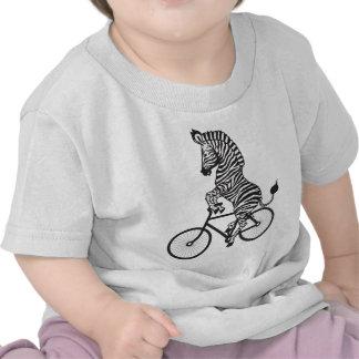 Zebra on Bike Tees