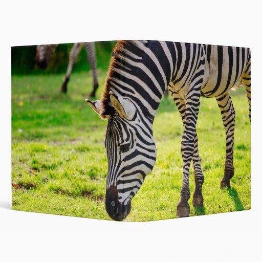 Zebra On Grass Vinyl Binders