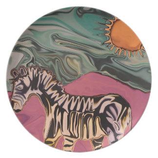 Zebra on Mars Plate