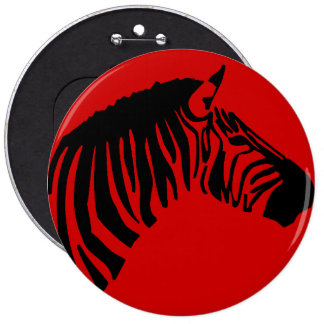 ZEBRA ON RED BUTTON