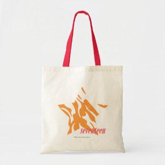 Zebra Orange 3 Budget Tote Bag