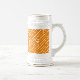 Zebra Orange and White Stripe Coffee Mugs