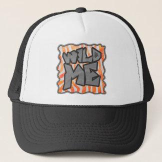 Zebra Orange and White Wild Me Trucker Hat