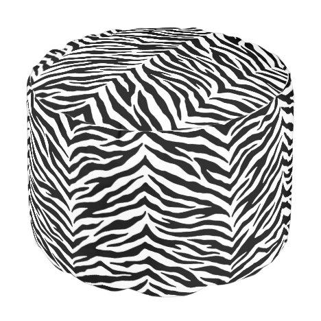 Zebra Ottoman Pouf