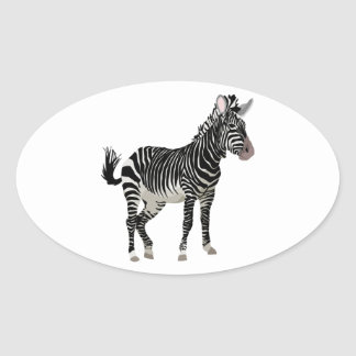 Zebra Oval Sticker