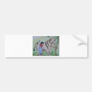 Zebra painting bumper sticker