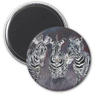 zebra-painting magnets
