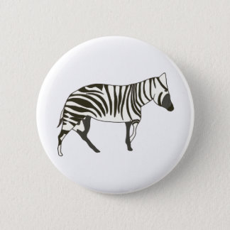 Zebra painting, wildlife art pin on buttons