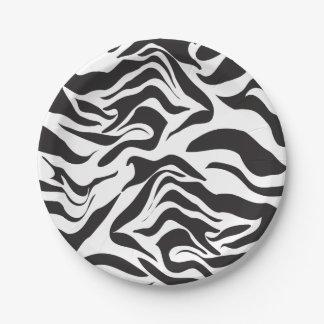 Zebra Paper Plate