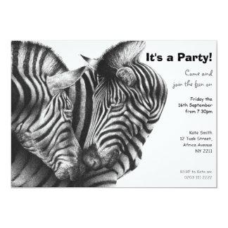 Zebra Party Invitation
