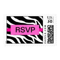 Zebra Party RSVP Postage