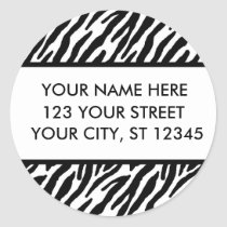 Zebra Pattern Address Labels