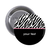 Zebra Pattern and Hot Pink Button