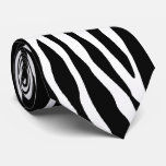 Zebra pattern animal print tie