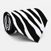 Zebra pattern animal print tie