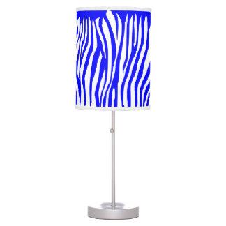 Zebra Pattern, Blue Desk Lamp