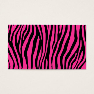 Zebra Pattern Business Card