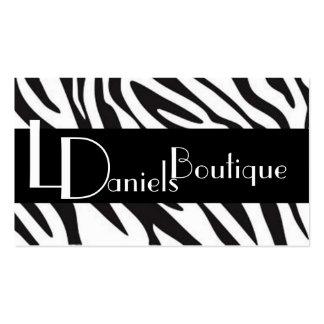 zebra pattern business card