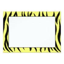 Zebra pattern card