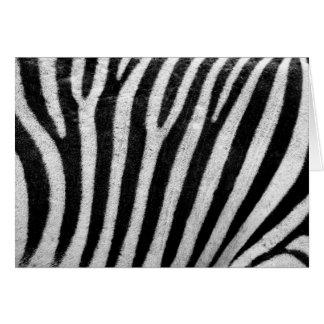Zebra Pattern Greeting Card