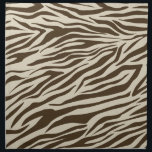 "Zebra Pattern Cloth Napkin<br><div class=""desc"">Zebra pattern,  striped animal print on homewares from Equal To Angels / Ricaso</div>"