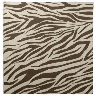 Zebra Pattern Cloth Napkin