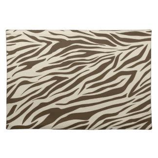 Zebra Pattern Cloth Placemat