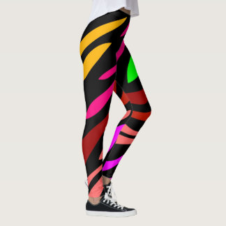Zebra Pattern Girly Trendy Fashionable Leggings