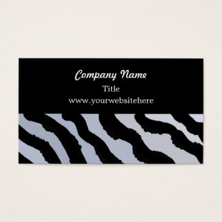 Zebra Pattern in Blue and Black Business Card
