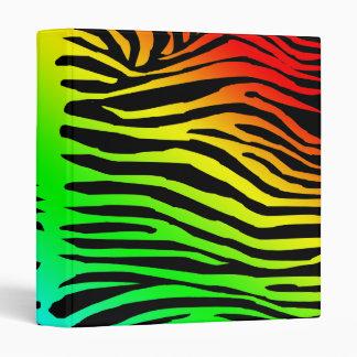 Zebra Pattern in Color Binder